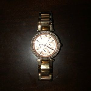 Michael Kors stainless steal rose gold watch